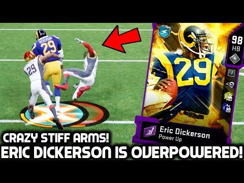 ERIC DICKERSON IS WAY TOO OVERPOWERED! TRUCKING EVERYONE! Madden 20 Ultimate Team