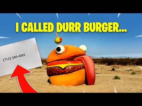 WHAT HAPPENS WHEN YOU CALL DURR BURGER?! Fortnite Battle Royale