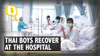 Watch: First Video of 12 Rescued Thai Boys in Hospital