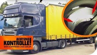 Katastrophaler LKW-Auflieger! Polizei zieht LKW aus dem Verkehr! | Achtung Kontrolle | kabel eins