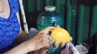 delicious vietnamese tropical fruit / mango, red dragon fruit, white dragon fruit