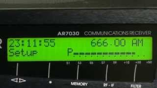 受信機:AOR(エーオーアール) AR7030 PLUS BAND WIDTH:Flt=4(9.5kHz)...