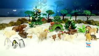Toy Wild Zoo Animals Snow Dig Surprise! PLAYMOBIL Animals Collection For Children Kids