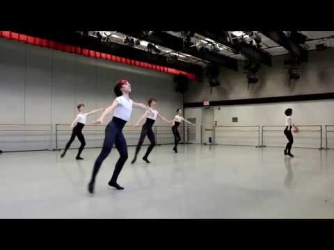 Kirov Academy of Ballet students learning Allegro Brillante with John Clifford