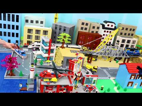 Fire Truck, Tractor, Crane, Train, Garbage Trucks, Cars & Excavator LEGO Toy Vehicles For Kids