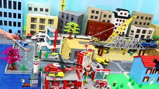 Download Fire Truck, Tractor, Crane, Train, Garbage Trucks, Cars & Excavator LEGO Toy Vehicles for Kids Mp3 and Videos