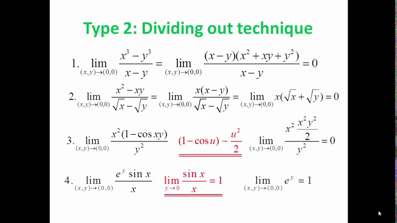 FUNCTION OF TWO VARIABLE: LESSON 3 - LIMIT - PART 1