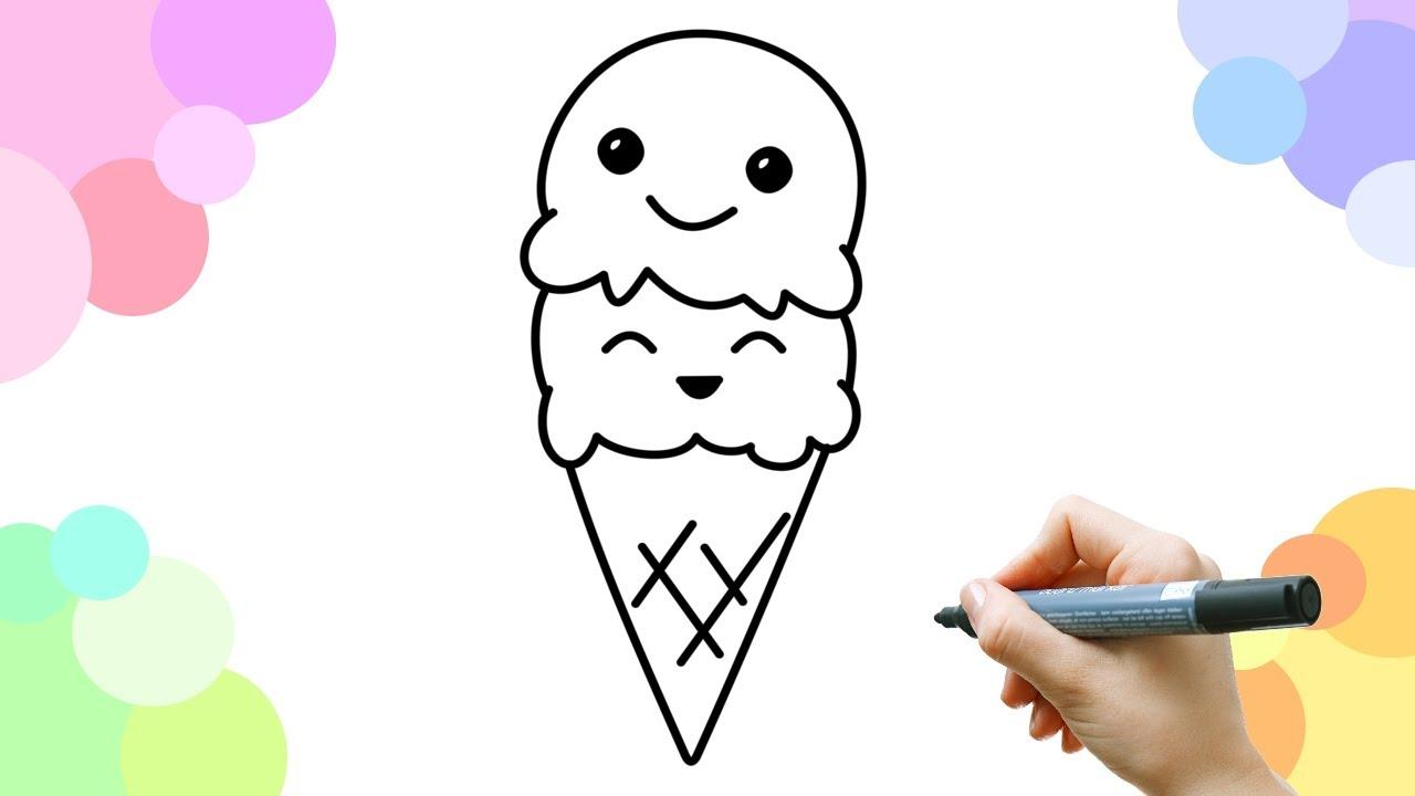 leer een blij ijsje te tekenen