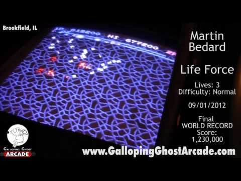 Life Force Arcade World Record High Score Martin Bedard Galloping Ghost Arcade