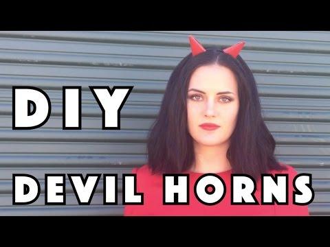 DIY Devil Horns - Cheap and Easy DIY Halloween Costume Accessory