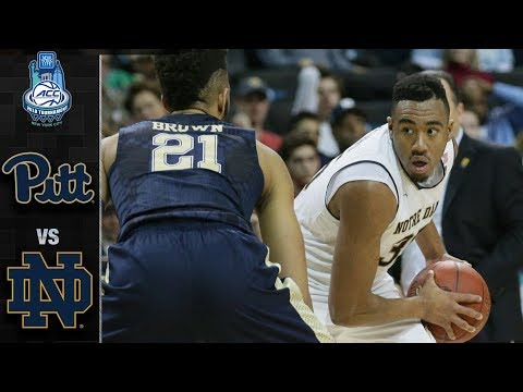 Pittsburgh vs. Notre Dame ACC Basketball Tournament Highlights (2018)