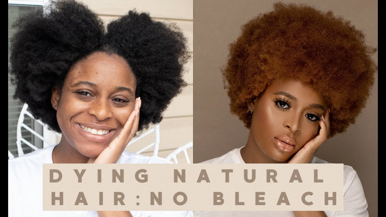 How To Dye Natural Hair Without Bleach Simple Quick Easy