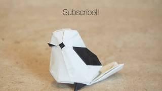 Origami little bird by Katsuta Kyohei