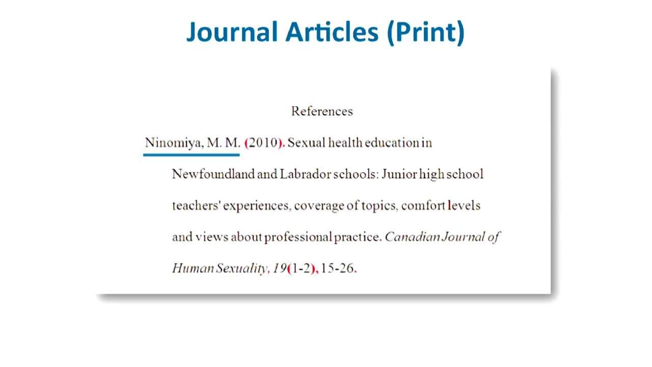 apa style citation journal article