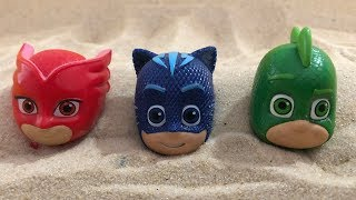 Pj Masks Toys in the Sandbox