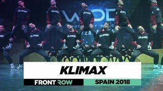 KLIMAX | Team Division | FRONTROW | World of Dance Spain 2018 | #WODSP18