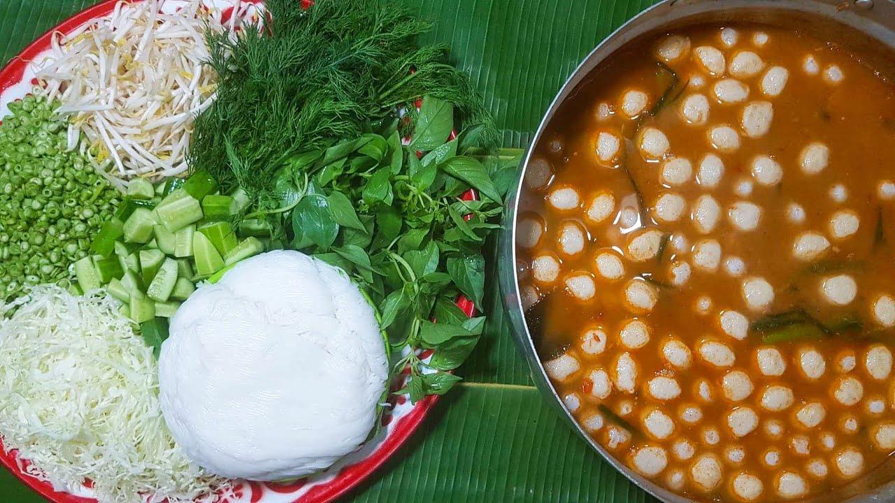 กับข้าวกับปลาโอ 671 : ขนมจีนน้ำยาป่าปลาร้าตีนไก่(ปลาช่อน) ตีนแน่นๆ Chicken Feet Curry Recipes