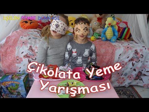 Kuzenimle Çikolata Yeme Yarışması - Acaba Kim Kazanacak - Eğlenceli Çocuk Videosu Funny Kids Videos