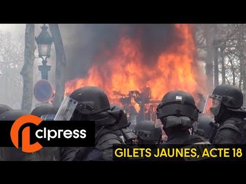 Gilets jaunes Acte 18 : scènes de chaos sur les Champs-Élysées (16 mars 2019, Paris)