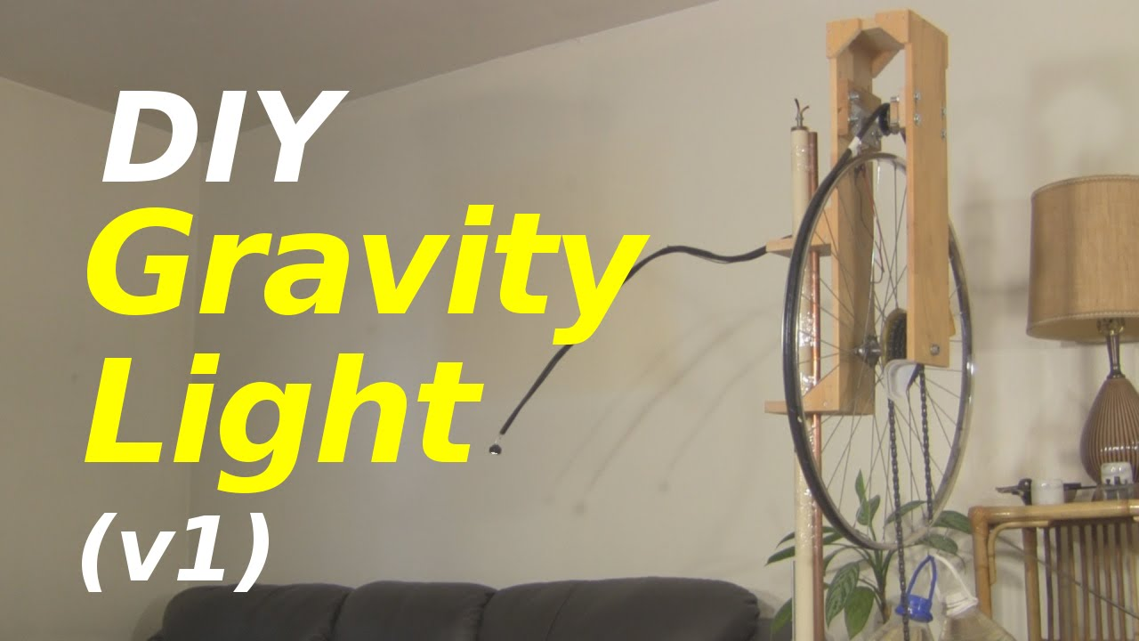 Gravity Light   A Homemade/DIY One (version 1)   YouTube