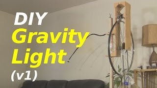 Gravity Light - a Homemade/DIY one (version 1)