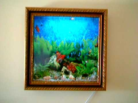 WALL , FRAMED , 3D PICTURE AQUARIUM - YouTube