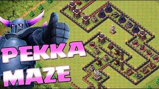 Clash of clans - EPIC PEKKA MAZE BASE!!! (New Troll design)