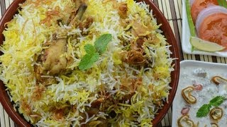 Chicken Biryani Restaurant Style - By VahChef @ VahRehVah.com(this is kind of restaurant style of preperation of birtani they wont do dum process they cook chicken saperatly with same masalas which we use for biryani and ..., 2013-05-22T03:44:24.000Z)