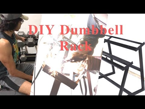 Homemade Dumbbell Rack Diy Dumbbell Rack How To Make A