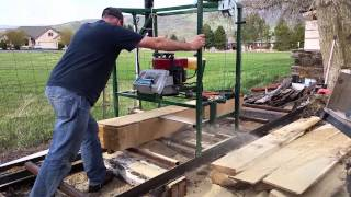 Homemade Chainsaw Mill.