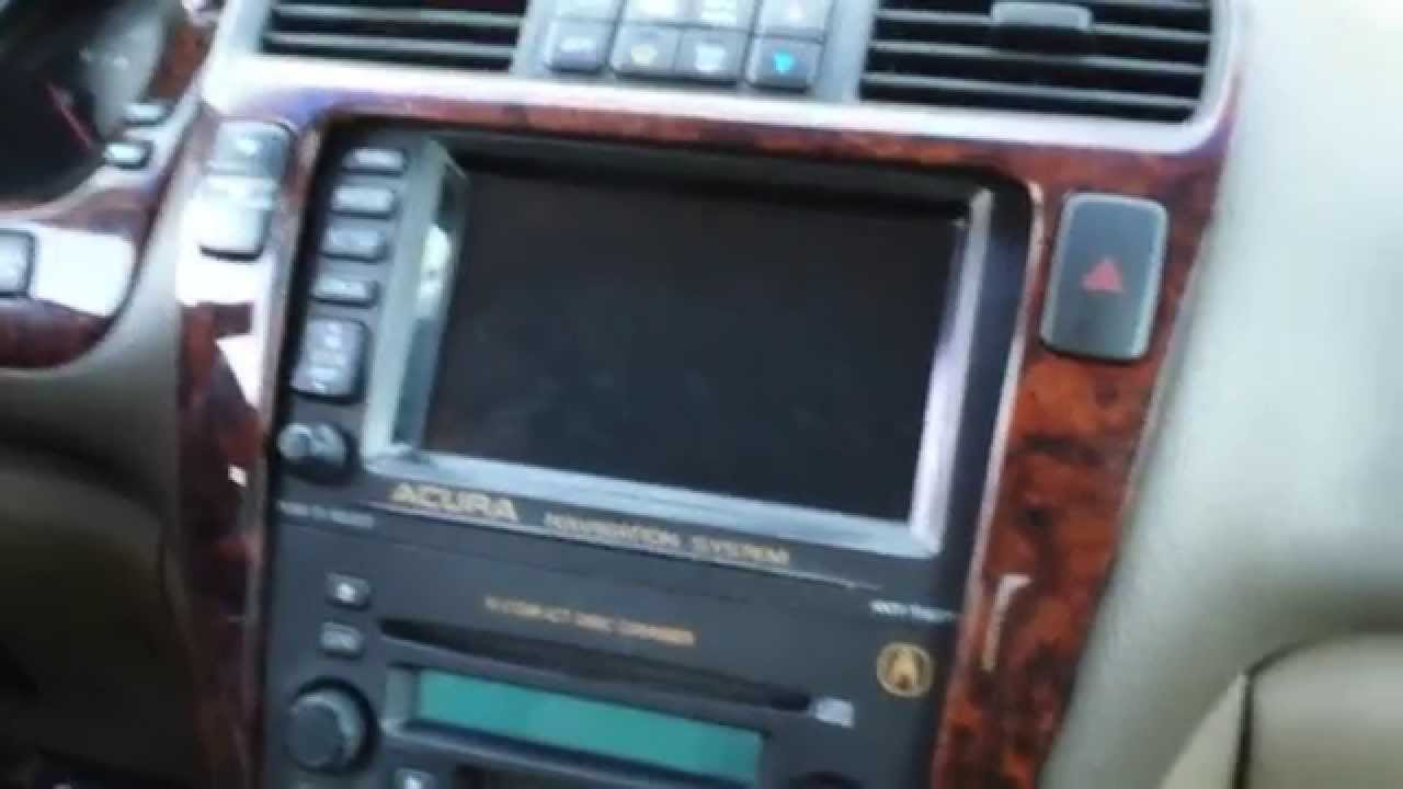 how to remove navigation  u0026 radio from acura mdx 2002 for