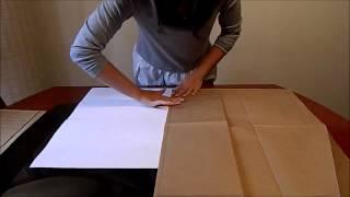 Dobragem de papel A0, A1, A2, A3