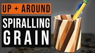 Continuous Grain Spiral Hexagon | Pencil Holders 4 ways Part 2