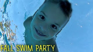 Cold November Swim - 7 Year Old Braves the Deep End -  Family Fun Pack