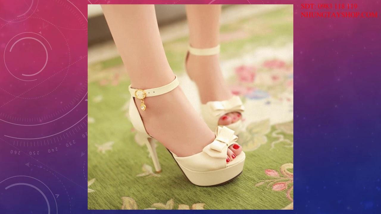 Giày Quai Hậu Nữ Cao Gót Đẹp Nhất Hiện Nay – Nhung Tây Shoes