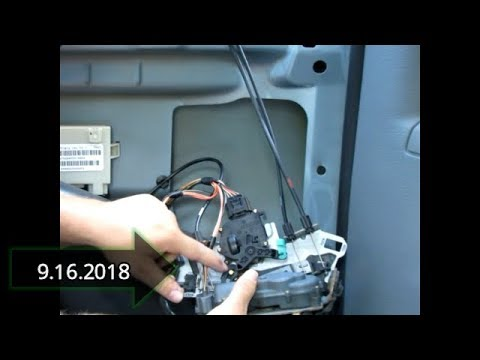 2005 Dodge Grand Caravan Door Lock Actuator Replacement