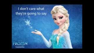 Let It Go Karaoke in G major (-1 pitch)