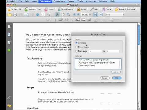 How To Ocr Renderable Text In Pdf