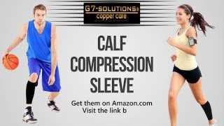 Calf Compression Sleeve - Calf Pain, Shin Splint, Varicose Veins Relief