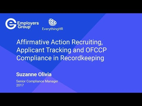 Affirmative Action Recruiting and Applicant Tracking – OFCCP Compliance in Recordkeeping