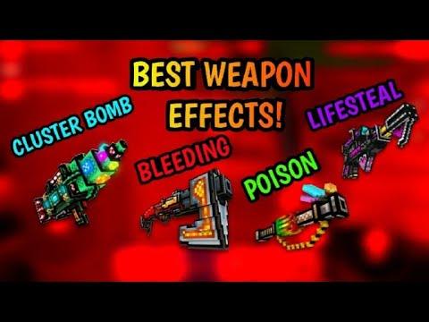 BEST WEAPON EFFECTS YOU SHOULD LOOK FOR WHEN U BUY A GUN IN PIXEL GUN 3D!!!