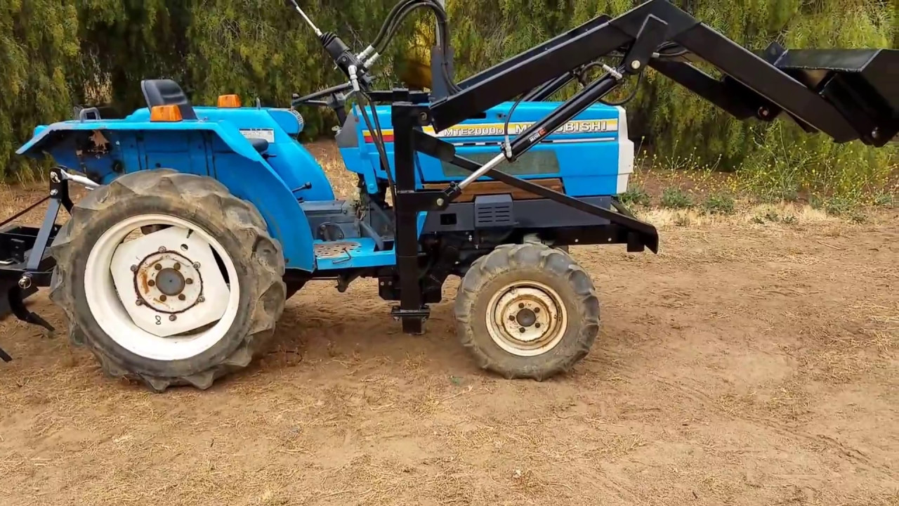 Mitsubishi Compact Tractors : Mitsubishi mte d used compact tractor for sale by