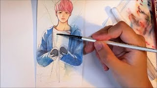 [BTS] Spring Day and Not Today Speedpaint (not really)