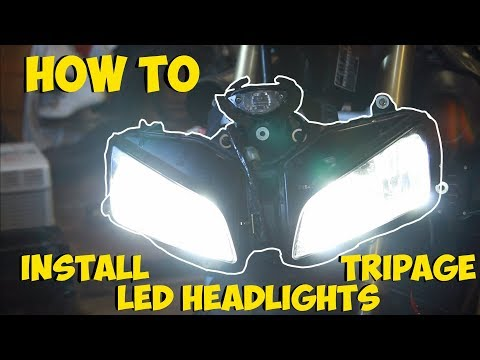 How To Install Tripage Led Headlights On A 2005 Honda Cbr600rr