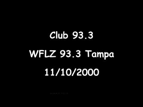 Club 93.3 WFLZ 93.3 Tampa  11/10/2000  DJ X, Dr. Beat