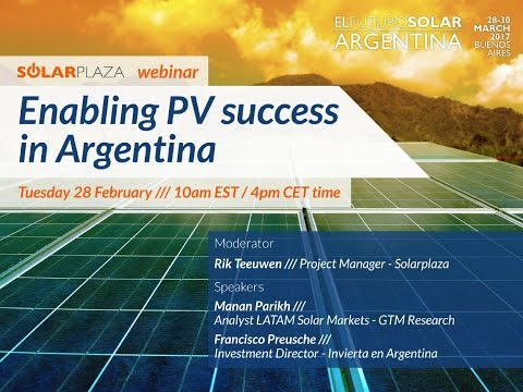 Solarplaza Webinar: Enabling PV success in Argentina