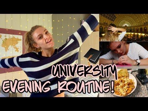 FIRST YEAR UNIVERSITY EVENING ROUTINE!