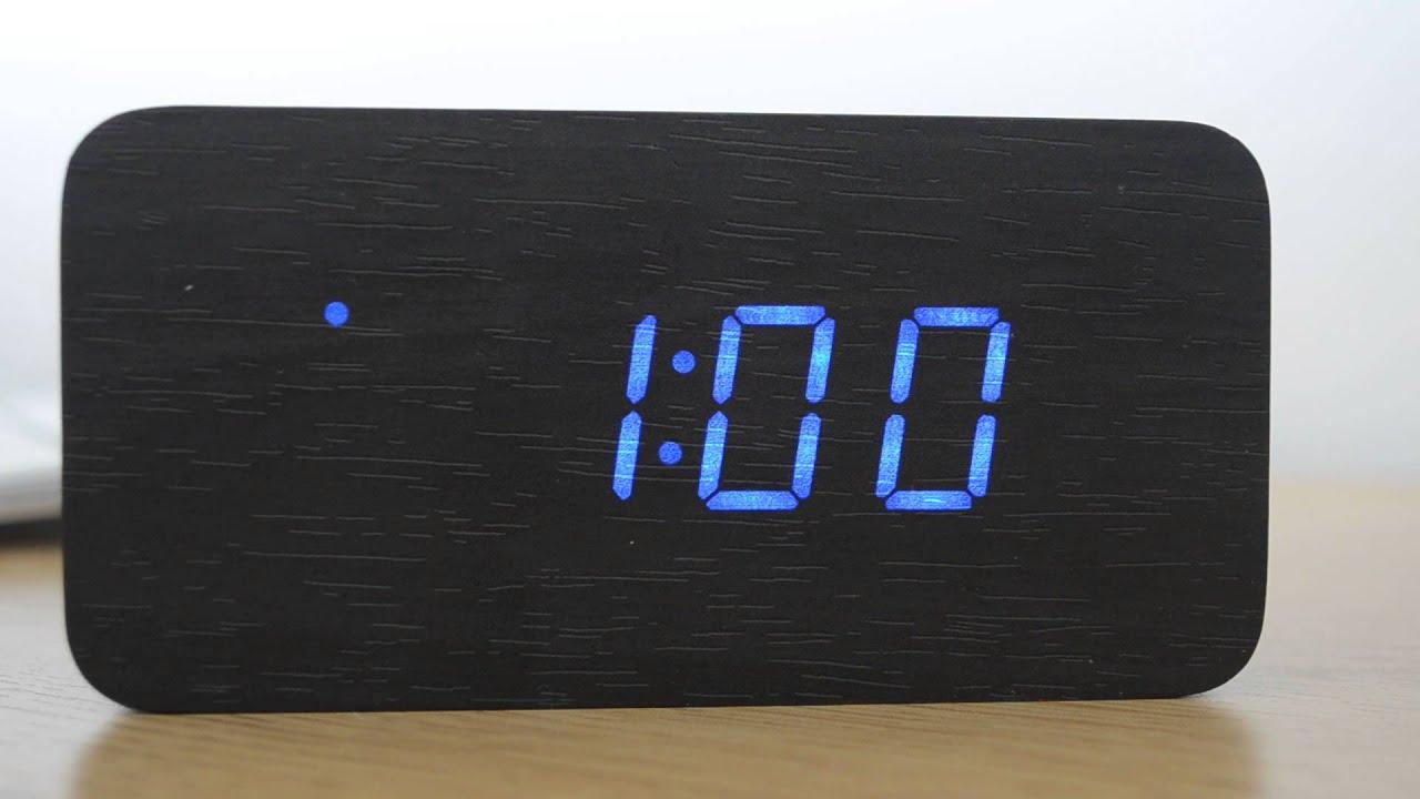 Uncategorized Wood Alarm Clock test review wood graining led alarm clock youtube