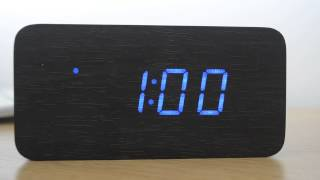 Test Review Wood Graining Led Alarm Clock