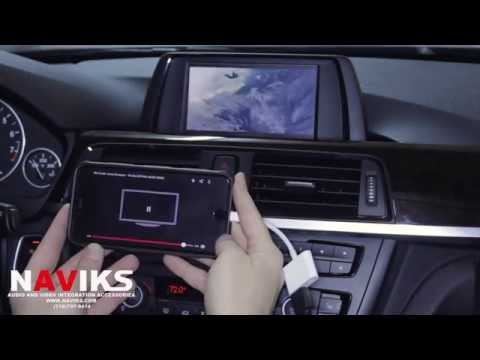 2014 BMW 4 Series F32 NAVIKS HDMI Video Interface Added: IPhone 6 Plus, Rearview Cam, Front-view Cam